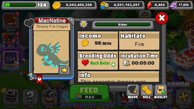 Dragonvale How To Breed A Ghostly Fire Dragon Dragon