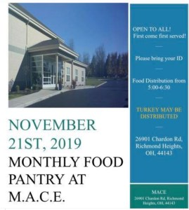 Food Pantry 11/22 before Thanksgiving! @ MACE Islamic Center