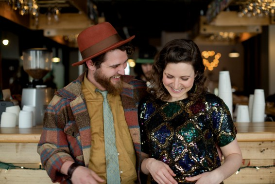 Colleen Brown, shown here with her partner Elijah Abrams, says music can strain the soul, as well as the bank account.