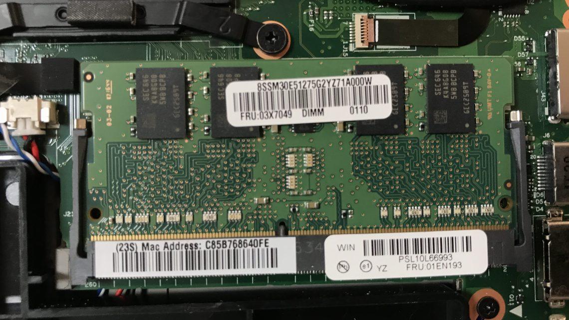 Thinkpad X260 のメモリを換装してみた