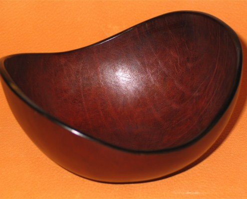 Oval Leather Bowls