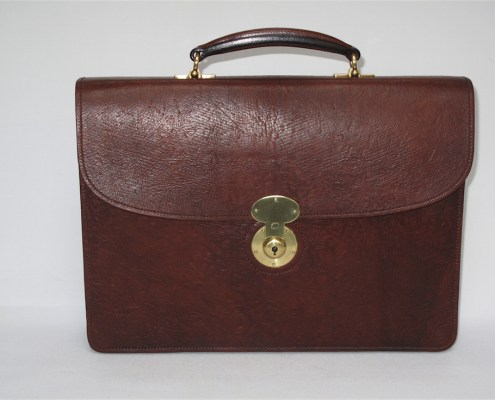 Russia Leather Briefcase - Front