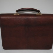 Russia Leather Briefcase - Rear View