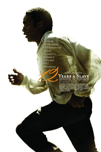 12 Years A Slave Movie Poster from director Steve McQueen and starring Chiwetel Ejiofor