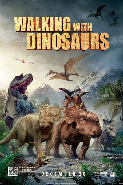 Walking with Dinosaurs 3D Movie Poster from directors Barry Cook & Neil Nightingale