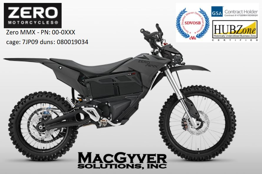 """The Zero Motorcycles """"MMX"""" Electric Tactical Motorcycle"""