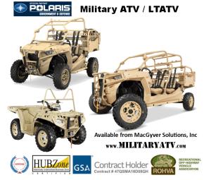 Government Tactical ATVs from Polaris MV850 MRZR-D2 and MRZR-D4