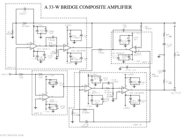 Mạch công suất amply 33W