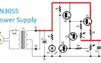 Mạch nguồn điều chỉnh điện áp DC bằng 2N3055 từ 0.7V – 24V