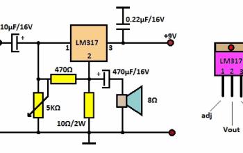 Làm ampli cực hot với ic ổn áp LM317