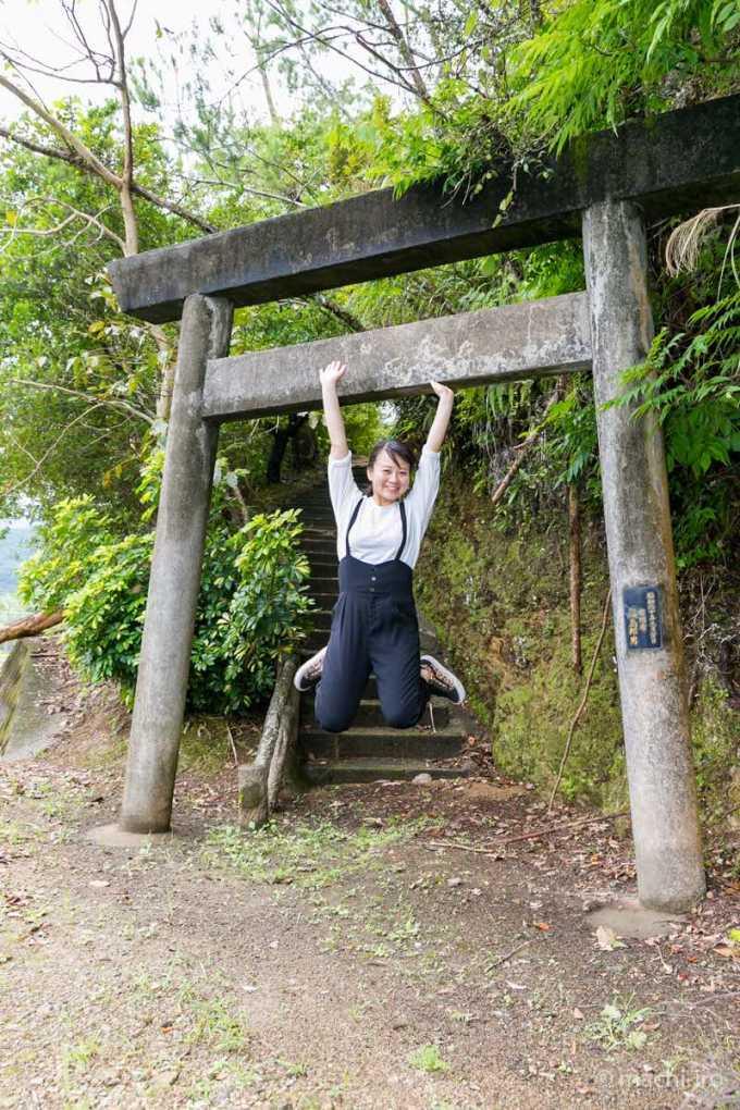 鳥居ジャンプ 厳島神社(須古)