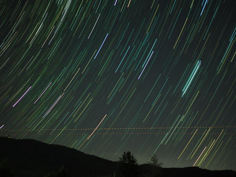宝篋山から昇る冬の星座たち