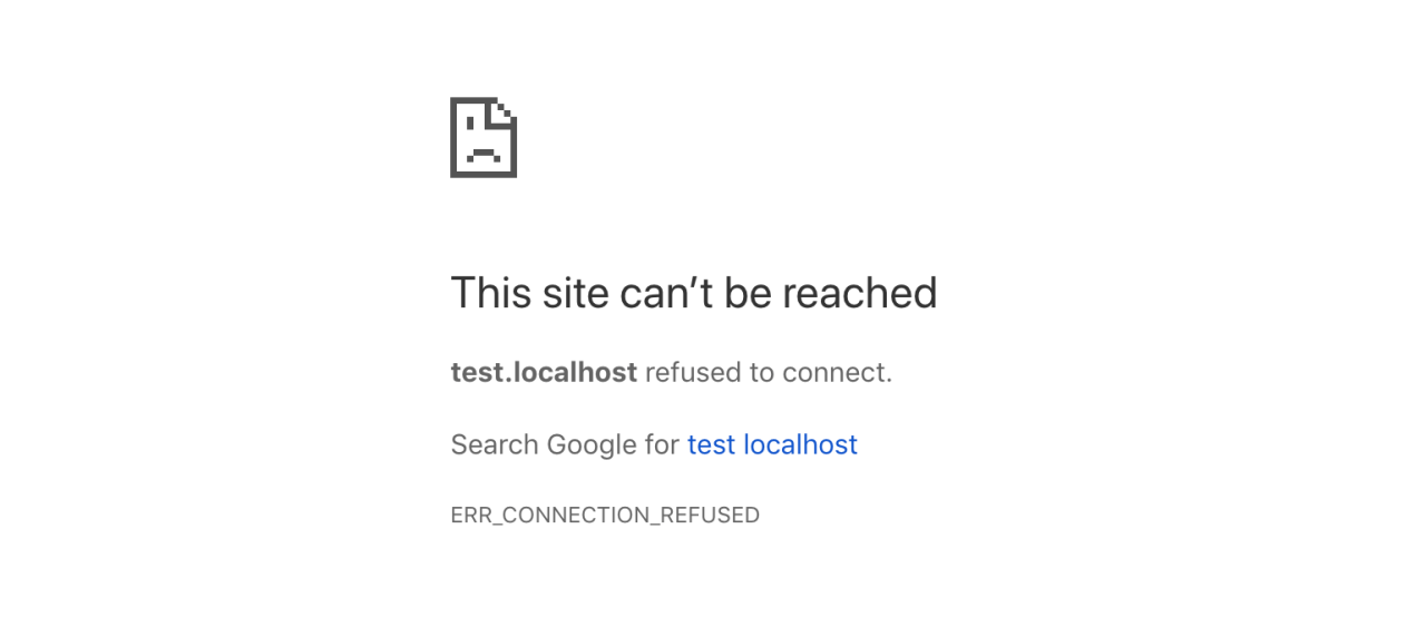 ERR_CONNECTION_REFUSED apache php error
