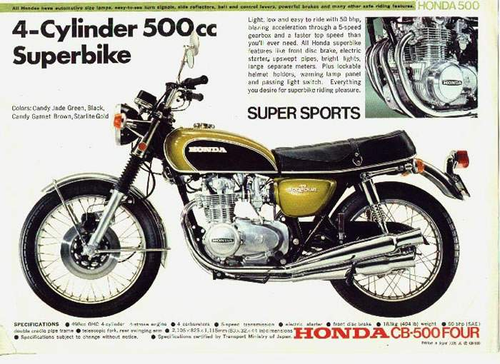 CB500 four superbike
