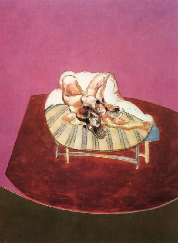 Francis Bacon - Lying Figure with Hypodermic Syringe