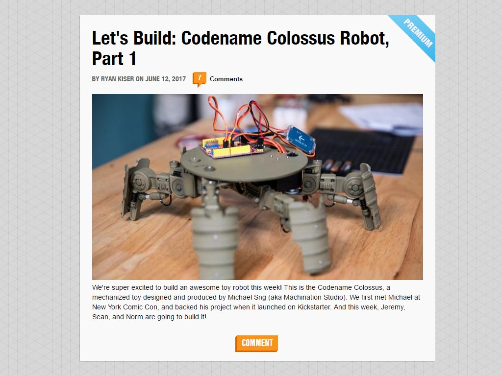 Tested.com Let's Build Codename Colossus Robot Part 1