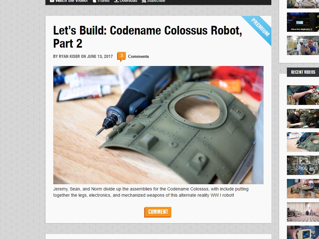 Tested.com Let's Build Codename Colossus Robot Part 2