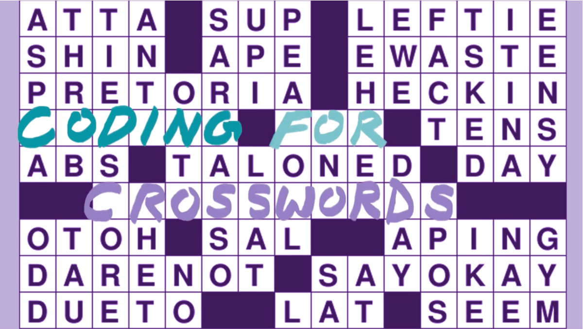 Coding for Crosswords Image