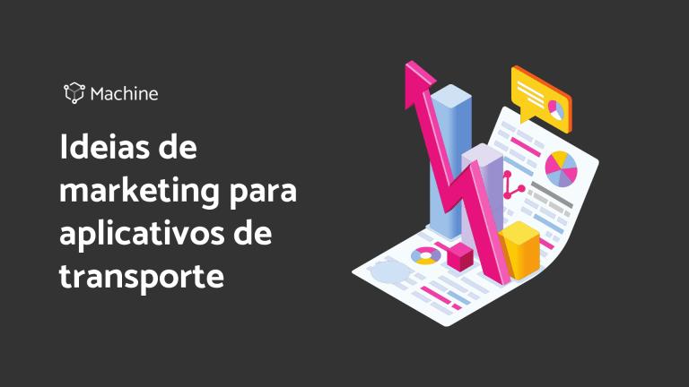 """Capa do Ebook """"Ideias de marketing para aplicativos de transporte""""."""