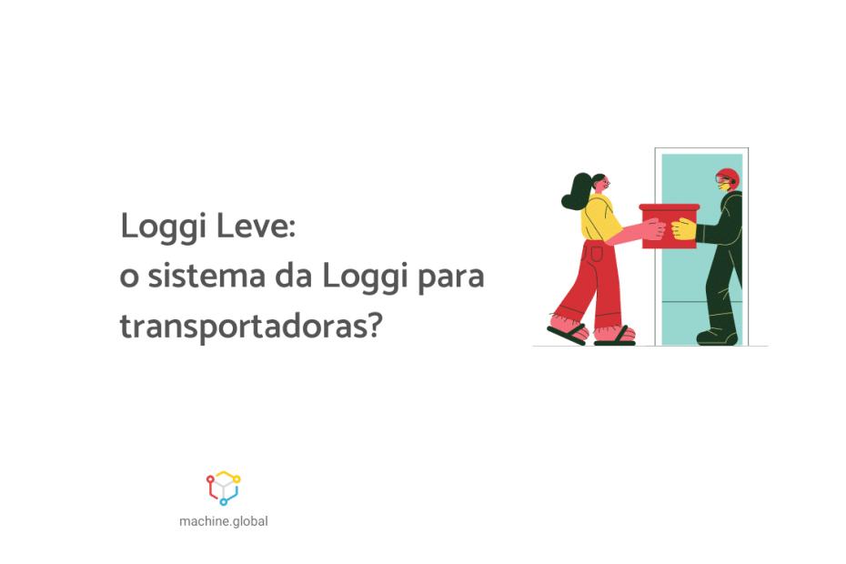 """Na ilustração, um entregador está entrado pela porta e dando uma pacote para uma moça. Ao lado está escrito """"Loggi Leve: o sistema da Loggi para transportadoras""""."""