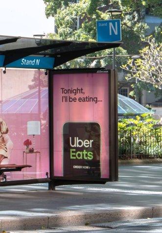 Busdoor do Uber Eats