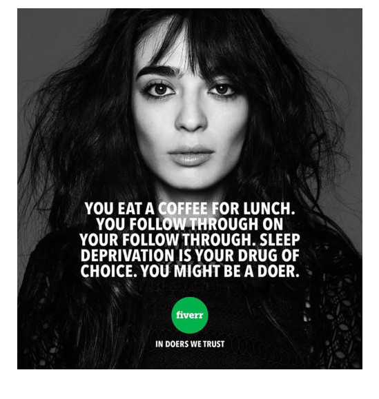 """You eat a coffee for lunch. You follor through on your follow through. Sleep deprivation is your drug of choice. You might be a doer."""