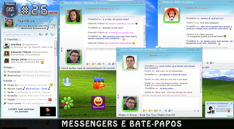 MachineCast #26 – Messengers e Bate-Papos
