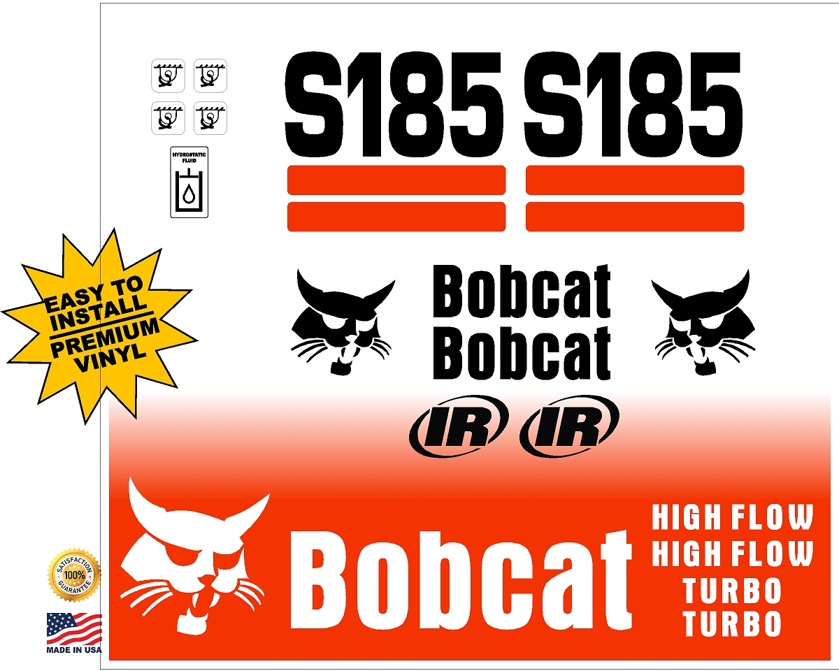 Bobcat S185 replacement decal kit - Machine Decals