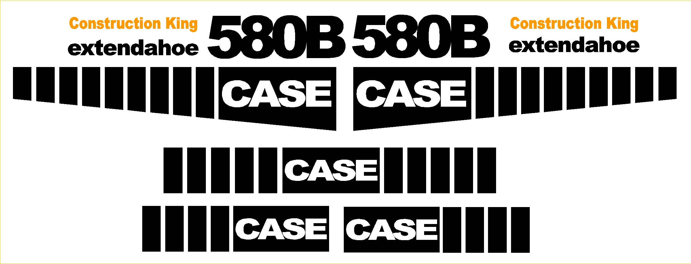 Case 580b new replacement decal kit machine decals for 2 case kit di storia