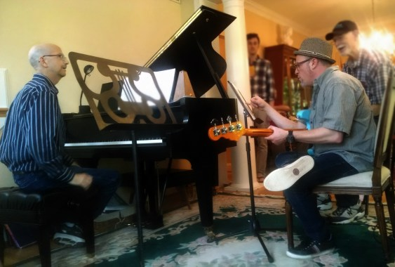 With jazz pianist Andy Trice at his home studio ‡