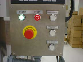 Control Panel with Emergency Stop Button.