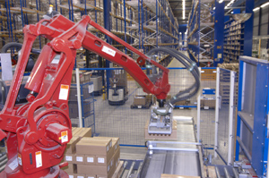 Material Handling Robot at work