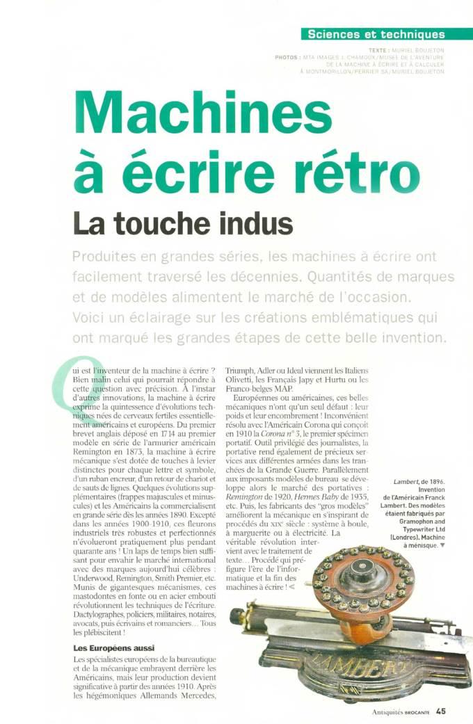 """Machines rétro dans """"Antiquités Brocante"""""""