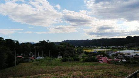 戸津辺の桜から見た矢祭の風景。(東舘 女性)