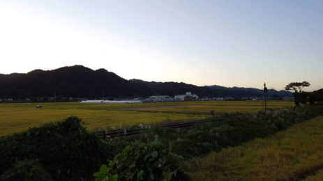 ファミリーマートの裏からの風景(東舘 男性)