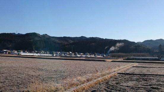 戸塚地区の朝です。煙が出てるのは矢澤酒造さんです。(戸塚・女性)
