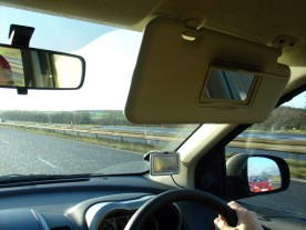 From the driver's point of view, the motorway, side and front mirrors and sat nav