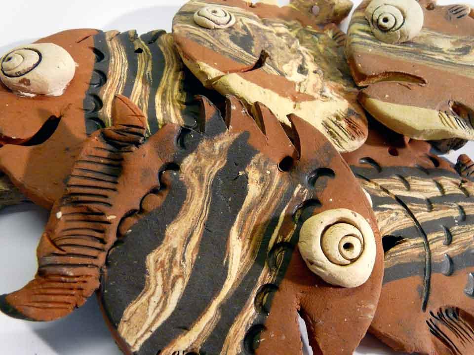 Galerie: Mobile Windspiel Fische Keramik Bausatz Basteln DIY