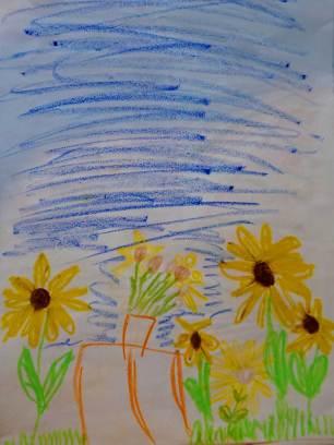 Hommage an Van Gogh: Stilleben mit Sonnenblumen