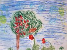 Ein Kirschbaum hat die Aufmerksamkeit erregt