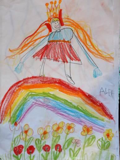 Die Prinzessin aufg dem Regenbogen