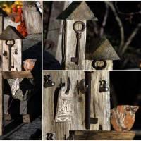 Vertikal spart Platz - Schlüsselbrett aus Altholz