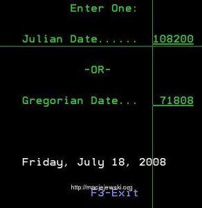 Konwerter dat juliańskich <-> gregoriańskich