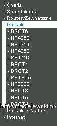 Lista hostów i urządzeń monitorowanych przez smokeping - w każdym menu kilkanaście pozycji - OS:NetBSD