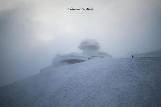 Poranni zdobywcy Śnieżki Śnieżka 26 01 2019 Fot Maciej Załuski