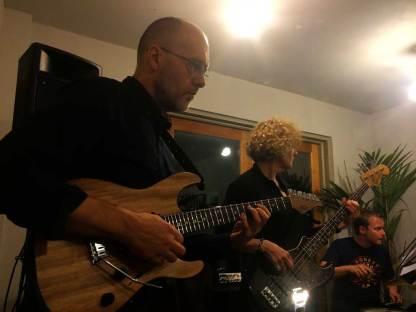 Maciek With Sound Partners Quartet in May 2015, London. Alison Rayner - bass, Mark Pell - drums, John Bennett - trombone