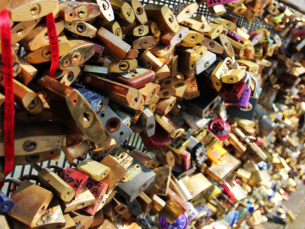 Love locks, Paris, France, Bridge, Love bridge, La Seine, Love lock down, Photo challenge