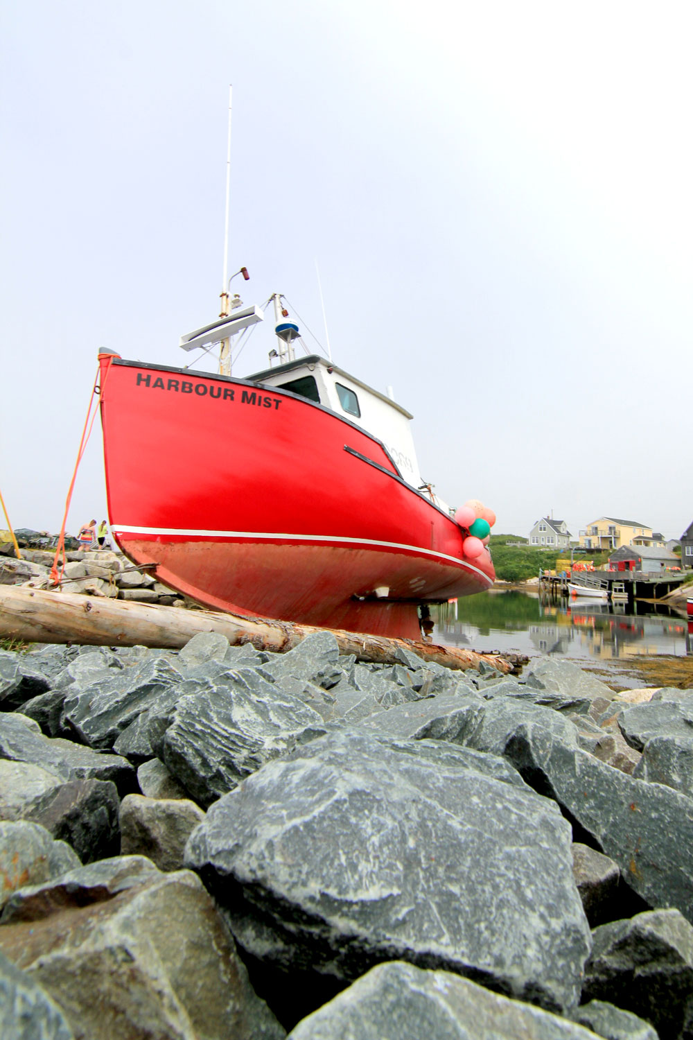 Peggy's Cove, boat, Harbour Mist