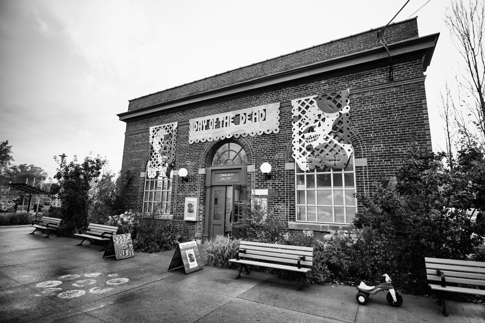 Wychwood Barns, Toronto, Brick Building, York, Black and White, Rain, 2017, Dead