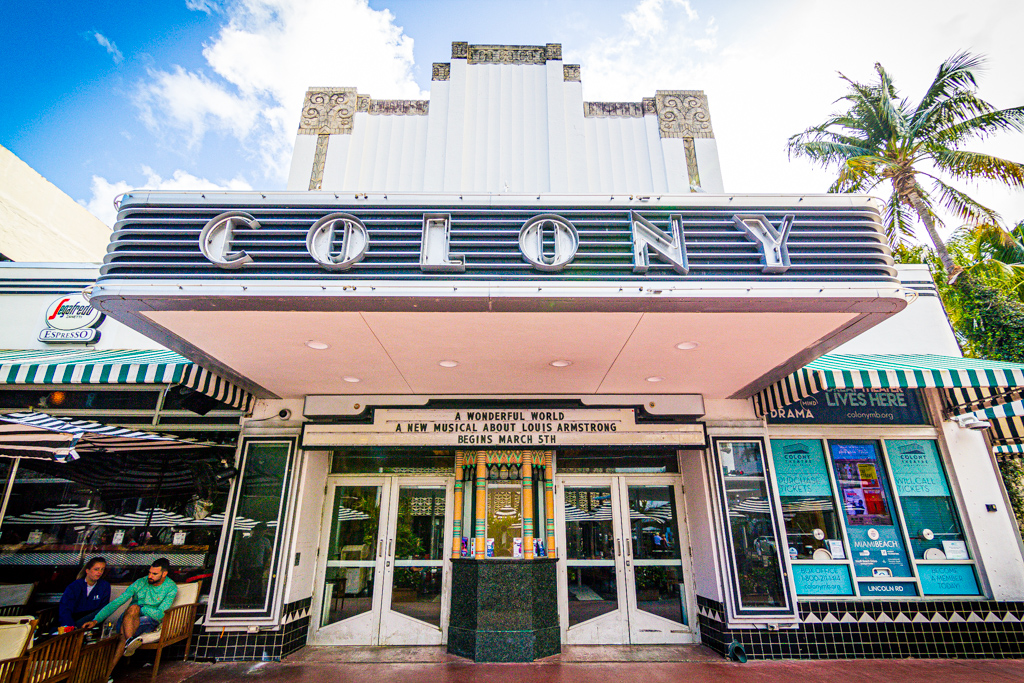 Exterior of the Colony Theatre Miami